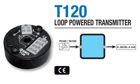 Bộ chuyển đổi tin hiệu nhiệt độ T120 - Seneca