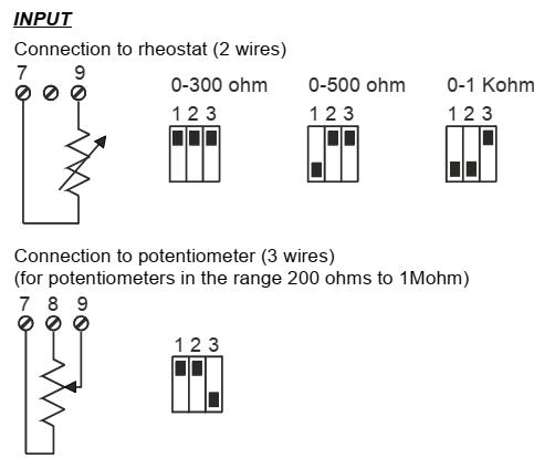 Cách dùng bộ chuyển đổi tín hiệu biến trở sang 4-20mA, 0-10v