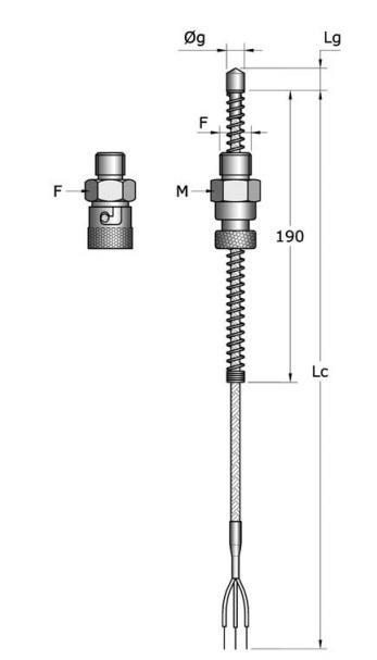 Cảm biến nhiệt độ PT100 dạng dây RBA