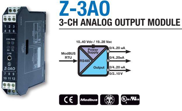 Chuyển đổi tín hiệu Modbus ra Analog 4-20mA