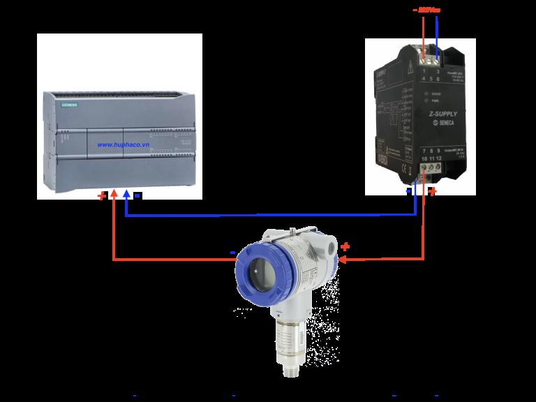 Cách đấu dây cảm biến áp suất với biến tần